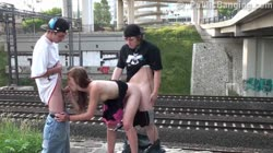 TEENAGERS PUBLIC sex gangbang orgy Part 4