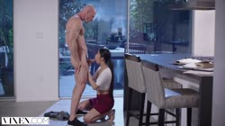VIXEN Young Asian Student Has Passionate Sex With Neighbor