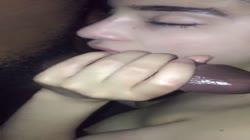 Small teen deepthroats BBC homemade